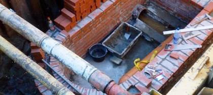 Regen- und Abwasserleitung